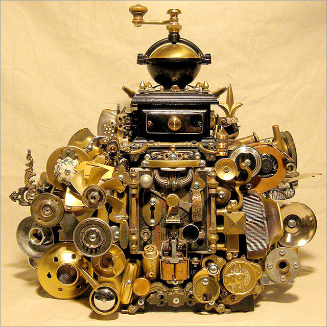 Steampunk Coffee Grinder Pic 1