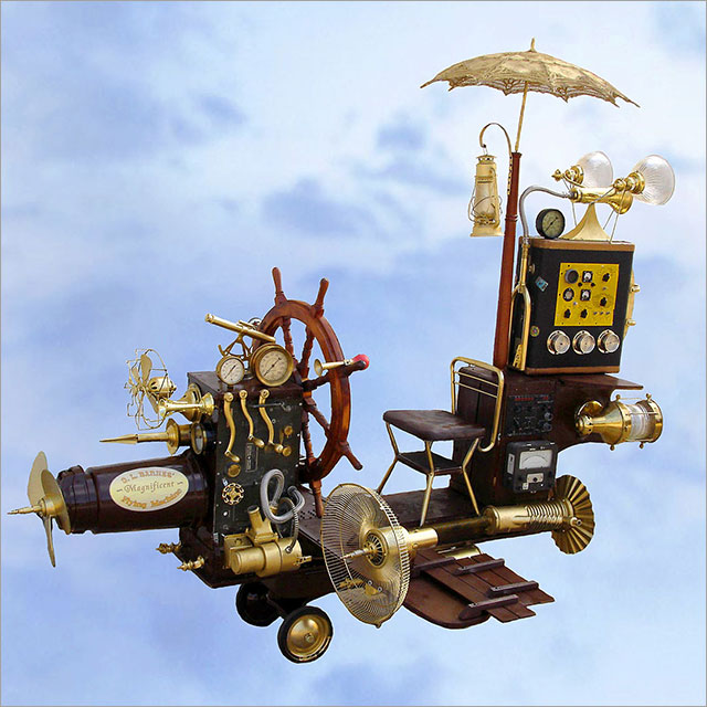 Steampunk Flying Machine Pic 1