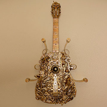 Decorated Acoustic Guitar