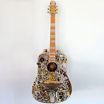 Steampunk Acoustic Guitar